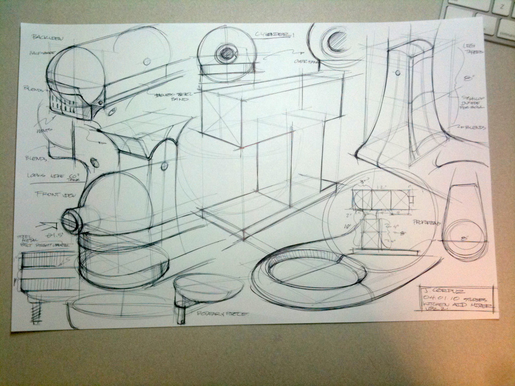 Rough Sketch (exploded view)